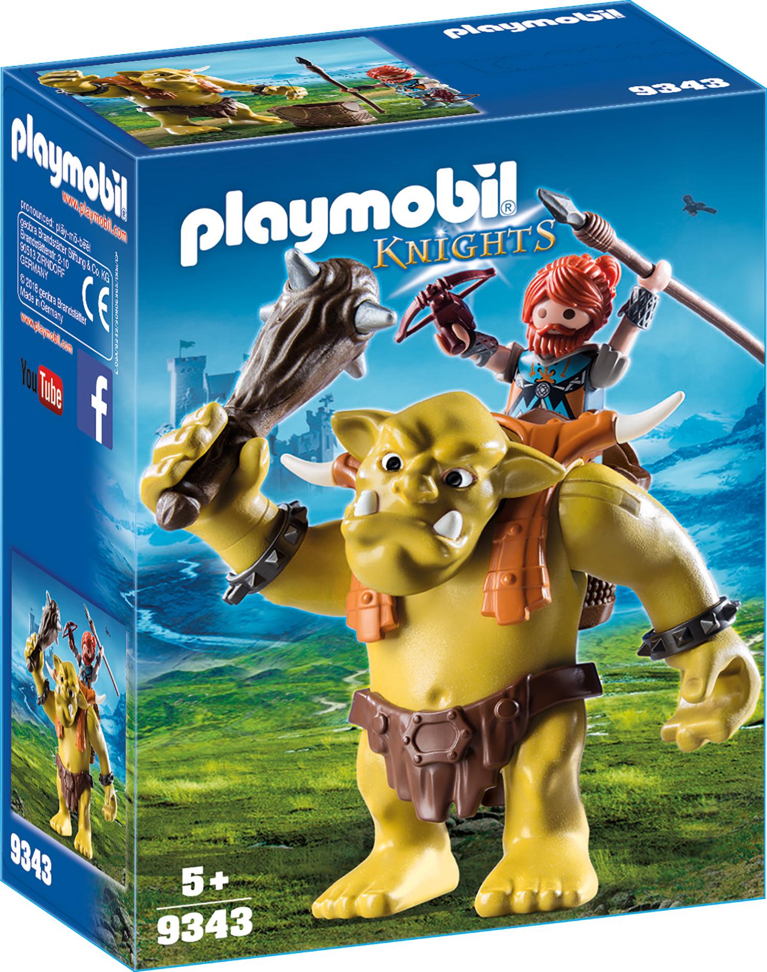Trol cu luptator pitic playmobil knights