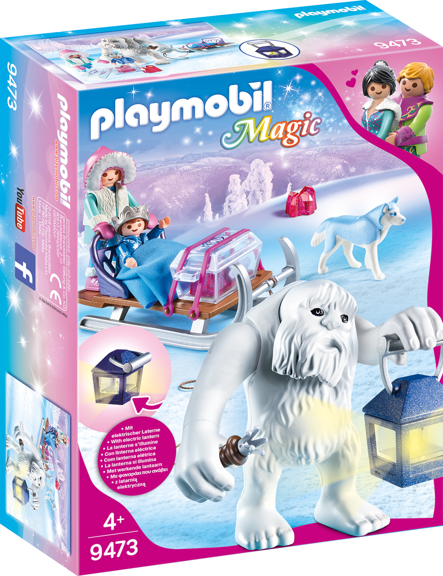 Yeti cu sanie si figurine playmobil magic