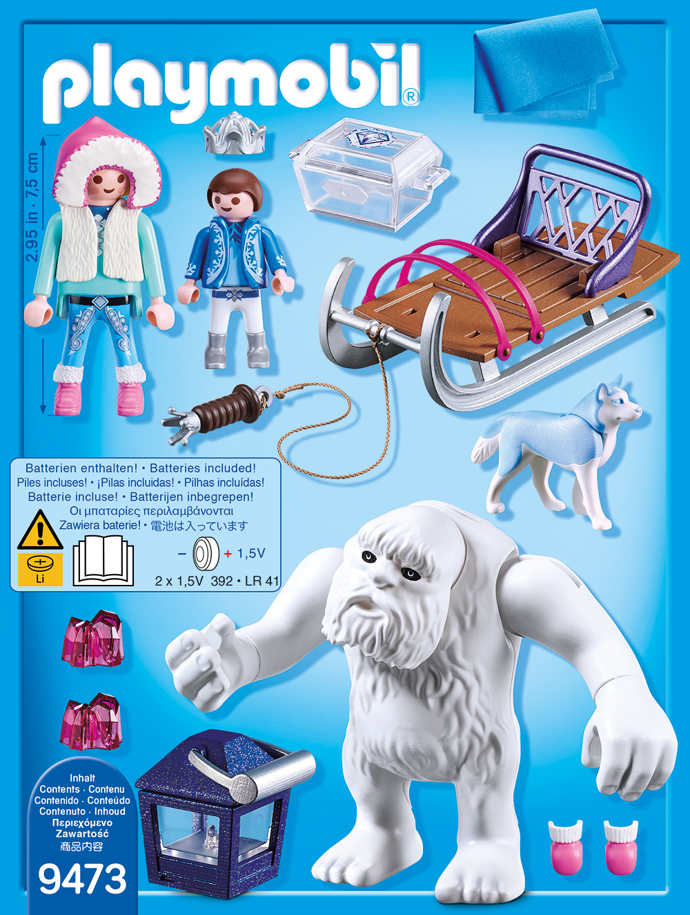 Yeti cu sanie si figurine playmobil magic - 1