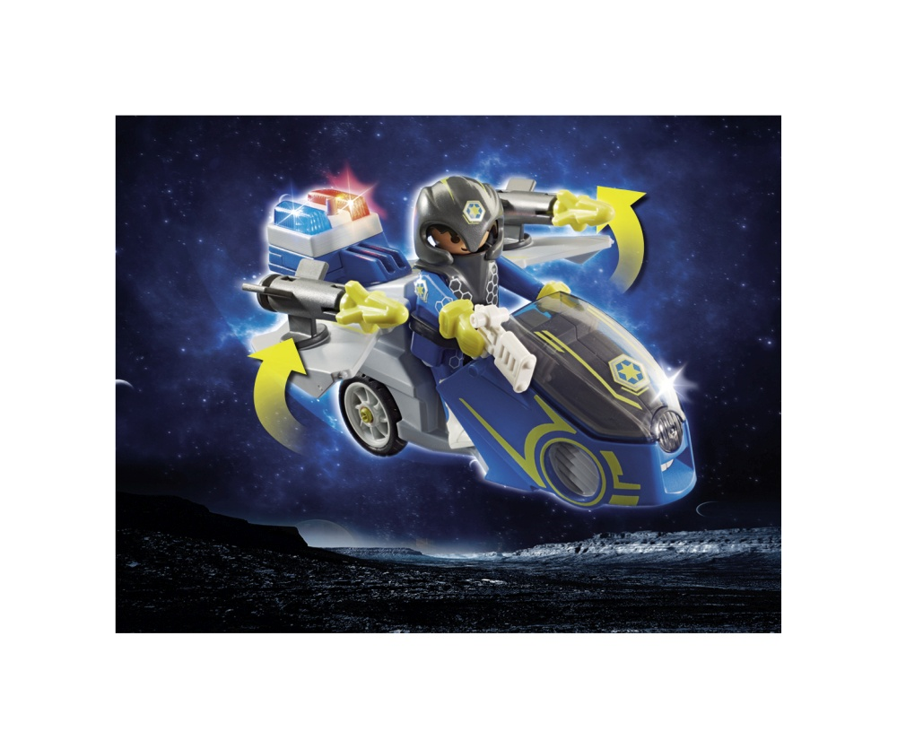 Bicicleta politiei galactice playmobil galaxy police - 2