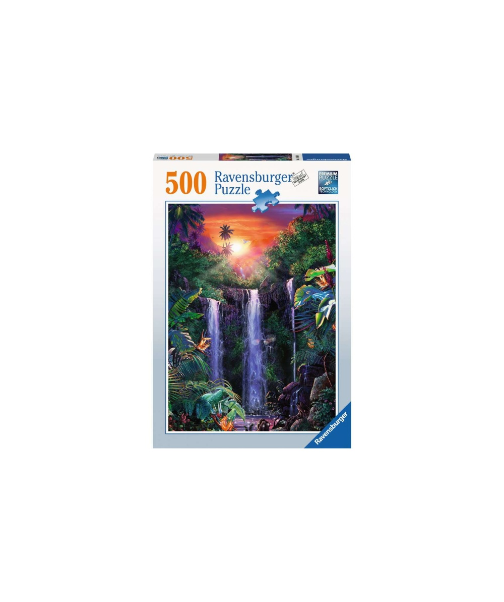 Puzzle cascada in jungla 500 piese ravensburger imagine