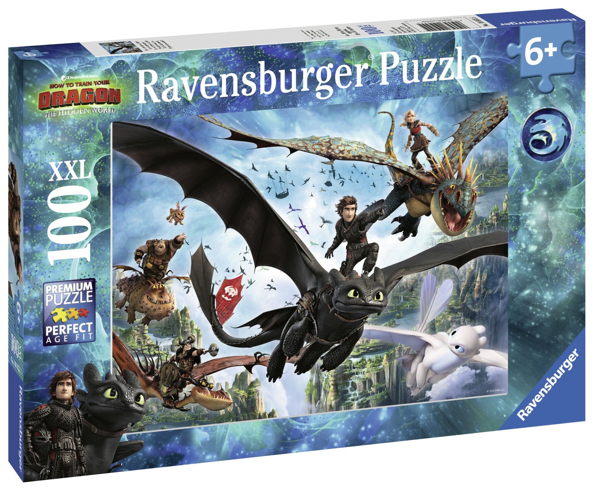 Puzzle dragons 100 piese ravensburger imagine