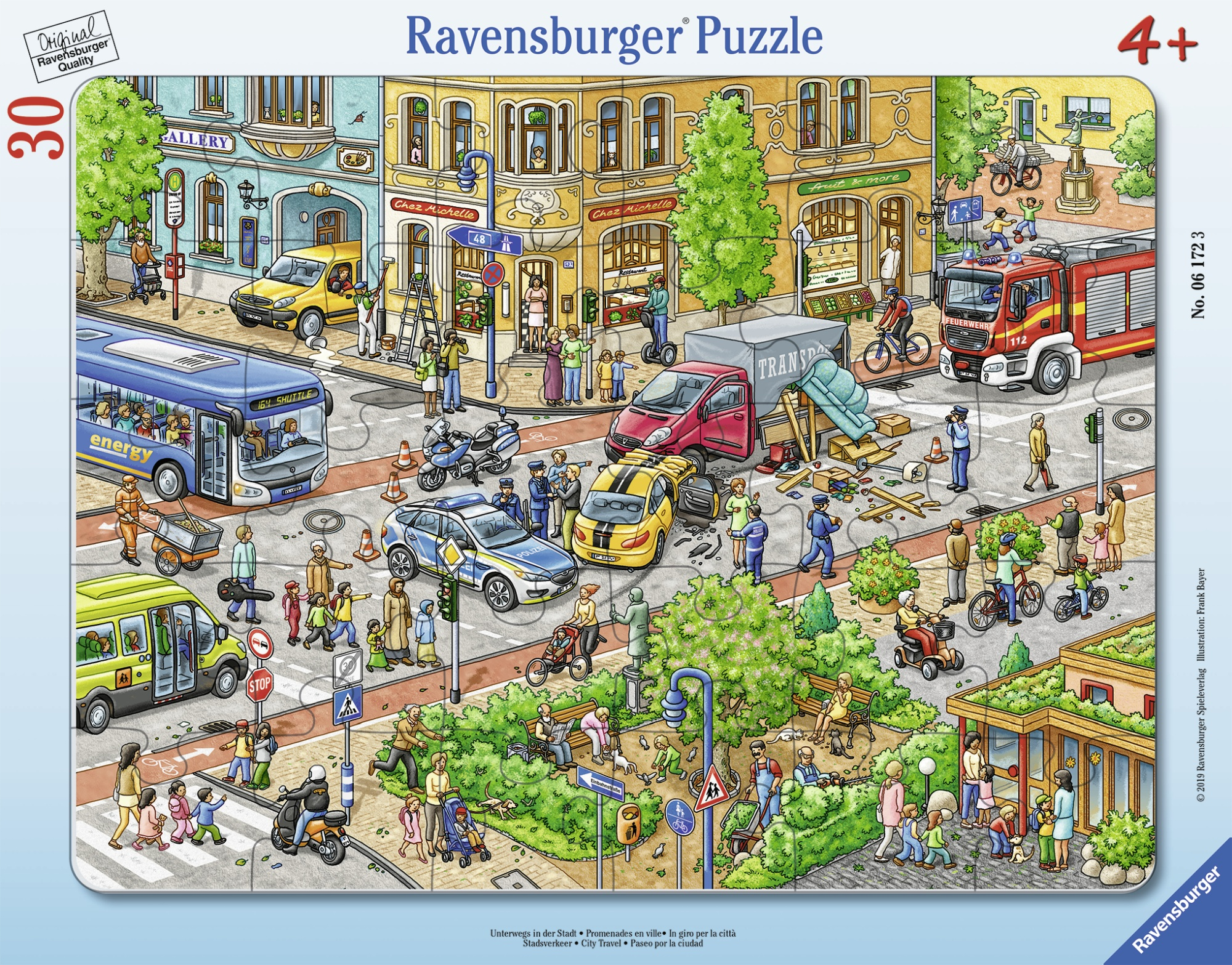Puzzle tip rama accident 30 piese ravensburger