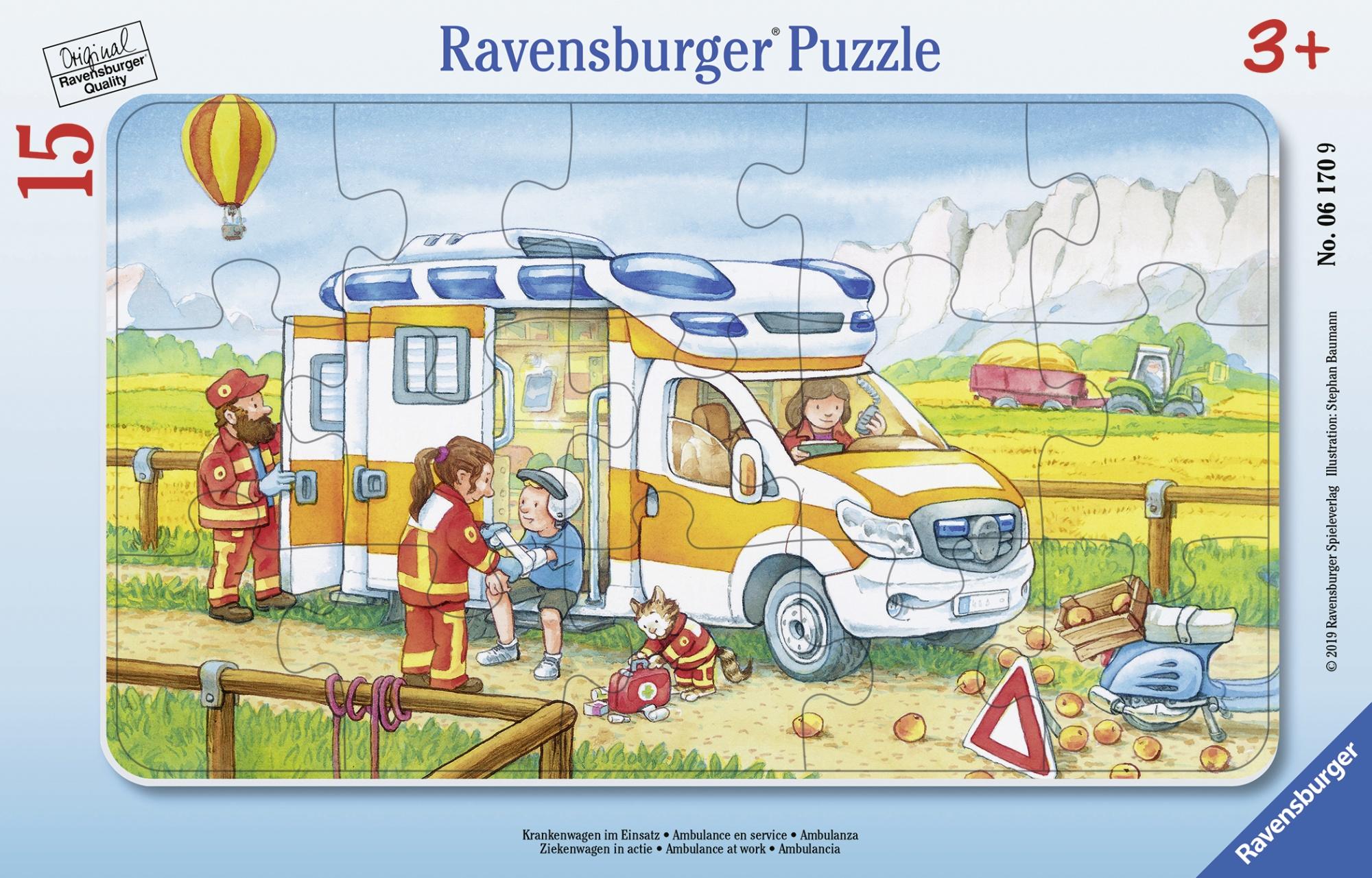 Puzzle ambulanta 15 piese ravensburger