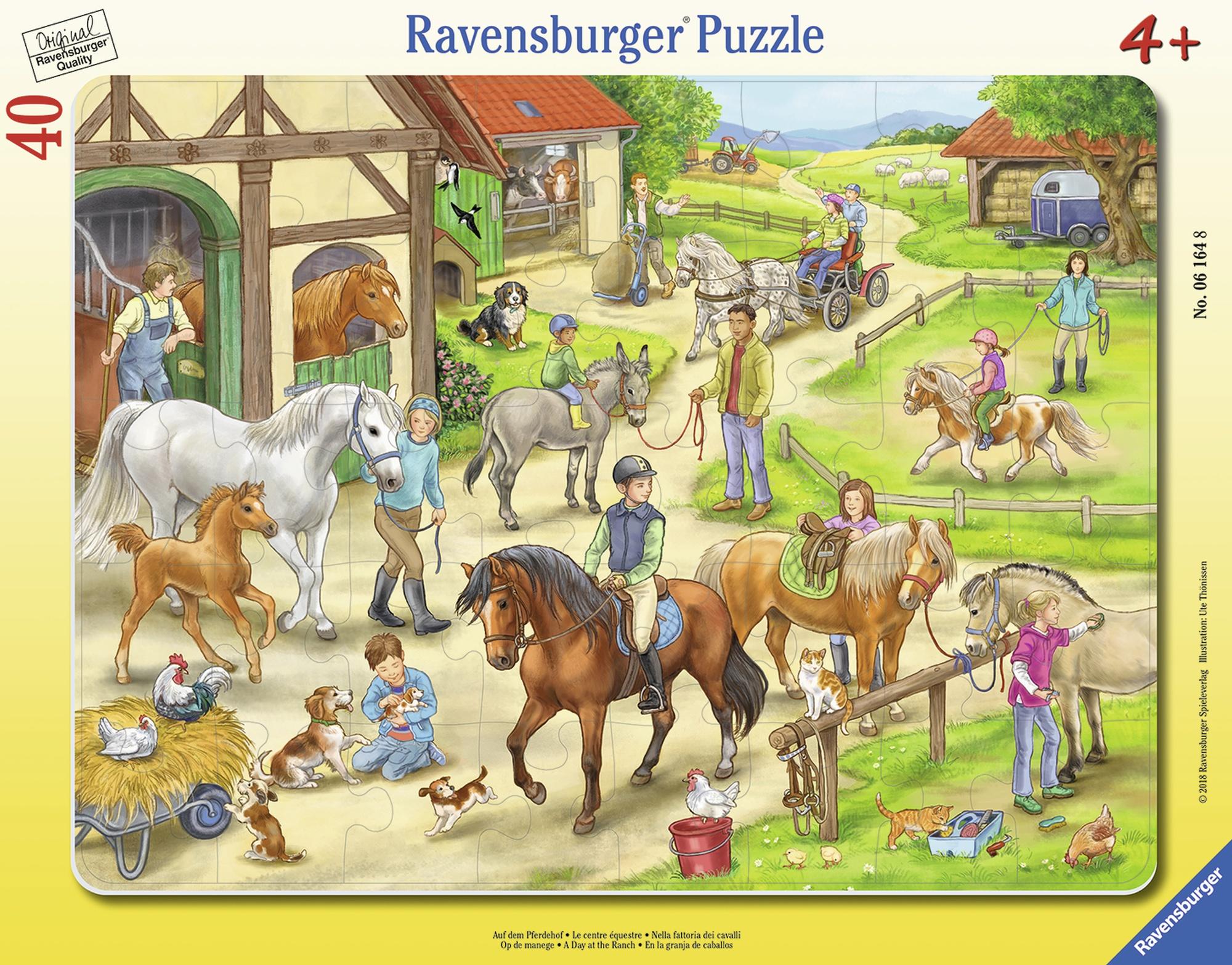 Puzzle tip rama ferma 40 piese ravensburger