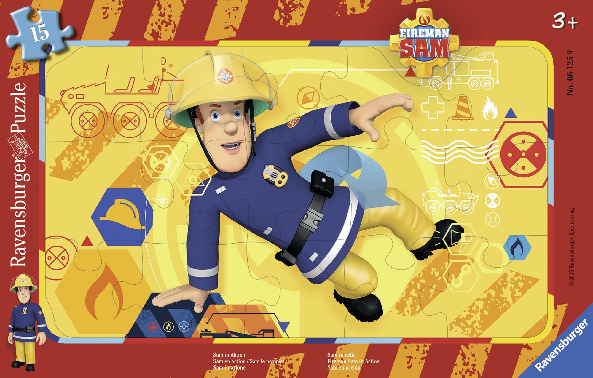 Puzzle pompierul sam 15 piese ravensburger imagine