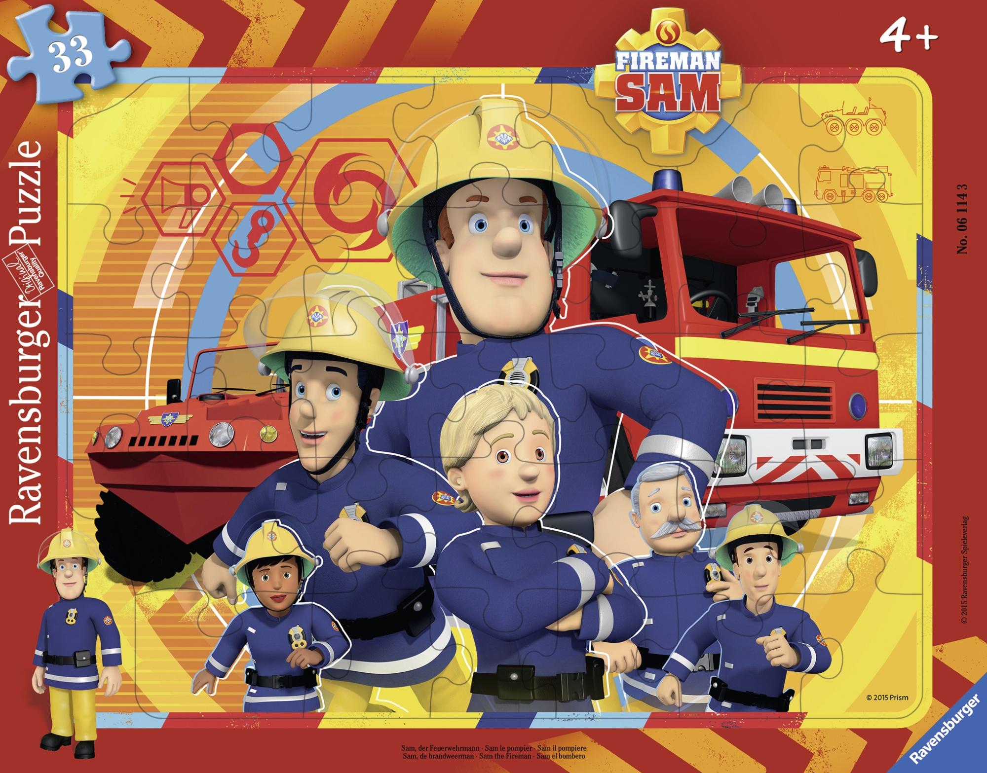 Puzzle tip rama pompierul sam 33 piese ravensburger imagine
