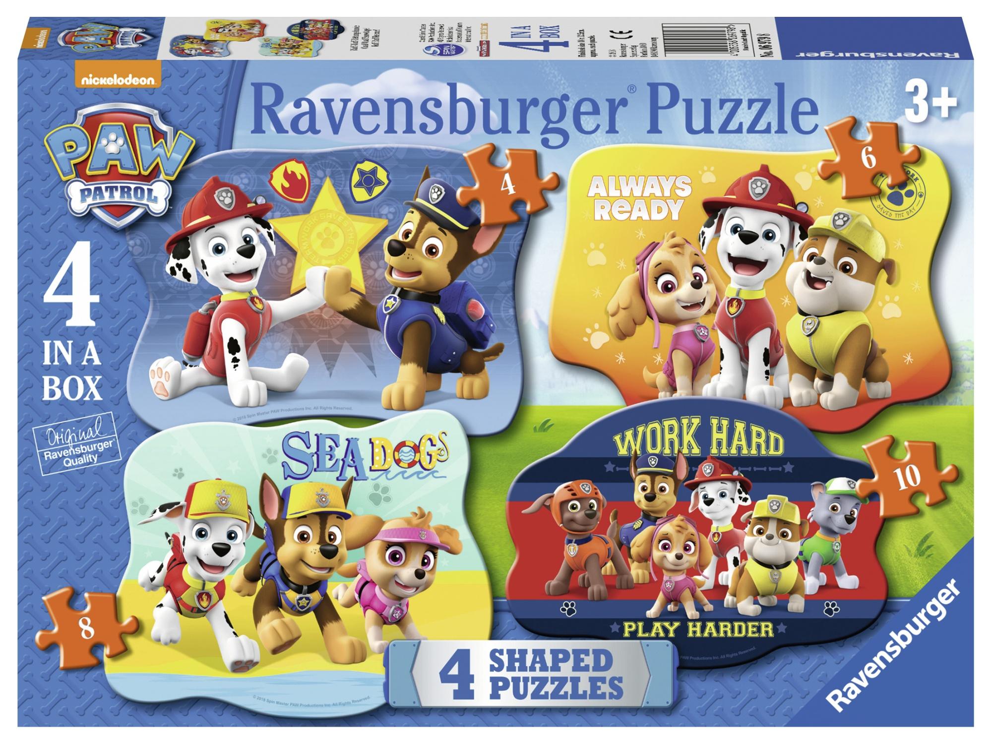 Puzzle paw patrol 4/6/8/10 piese ravensburger
