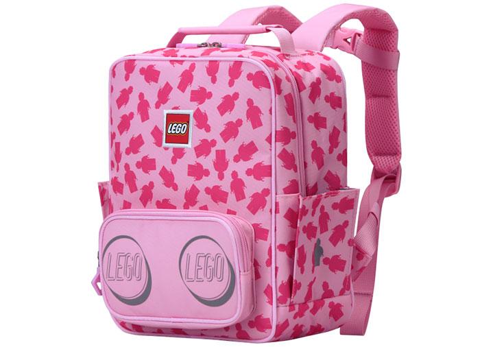 Ghiozdan lego cu minifigurine roz
