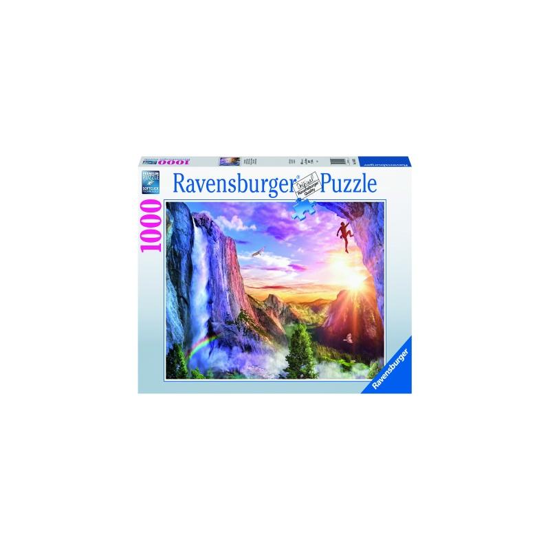 Puzzle copii si adulti visul alpinistului 1000 piese ravensburger imagine