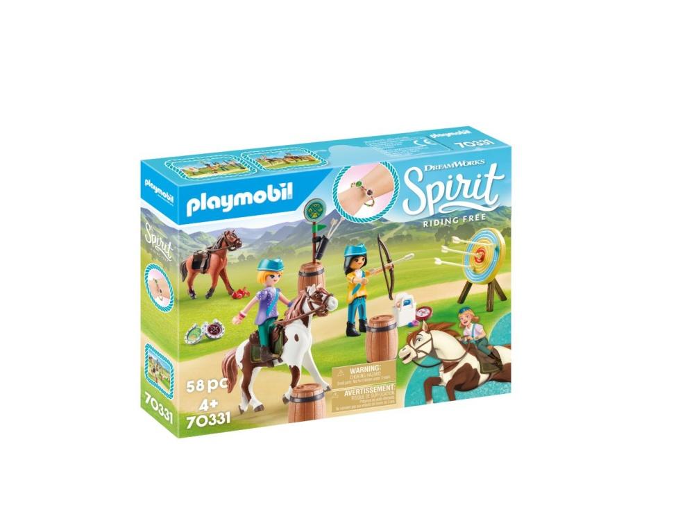 Caluti si lectii de tras cu arcul playmobil spirit