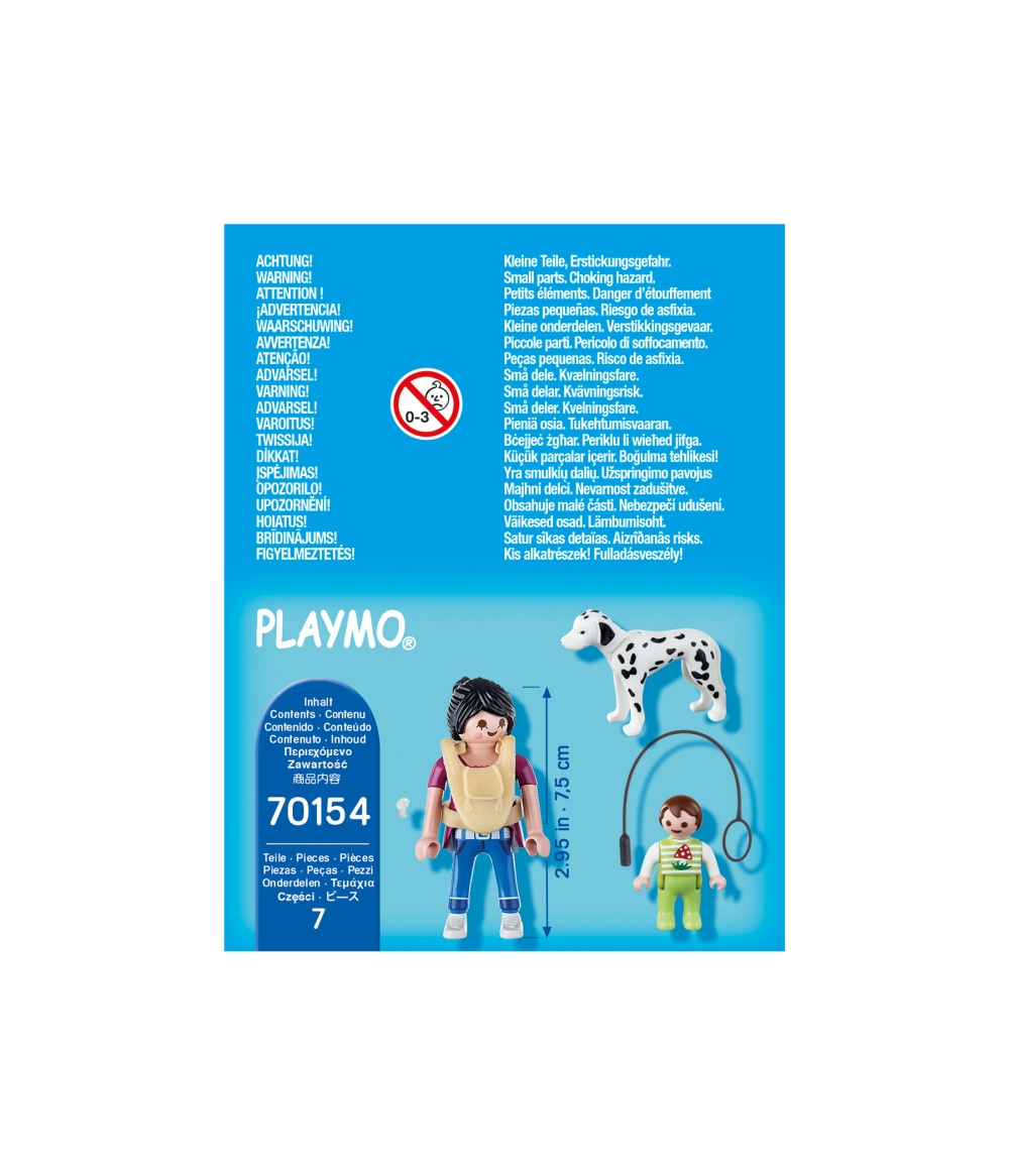 Figurina mama cu bebe si caine playmobil - 1