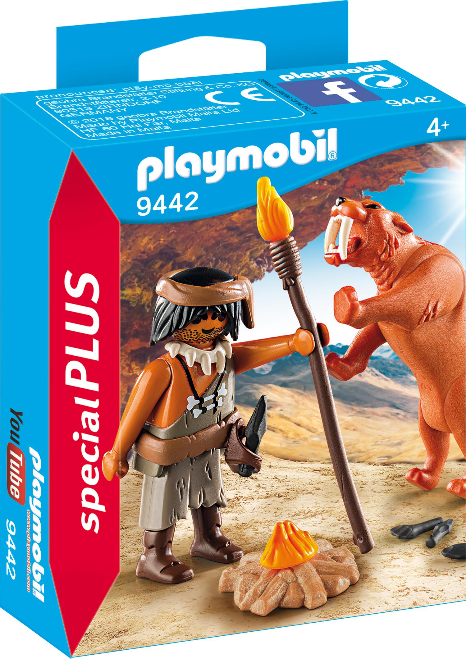 Figurina omul pesterii cu tigru playmobil