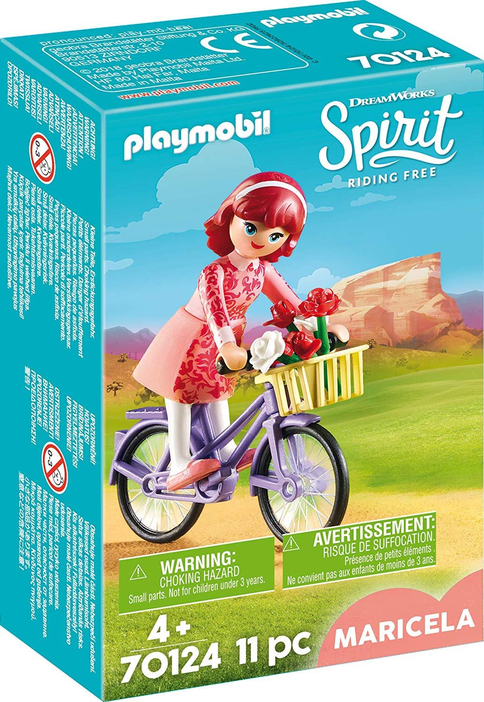 Maricela cu bicicleta playmobil spirit