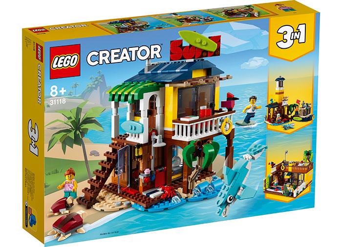 Casuta surferilor lego creator