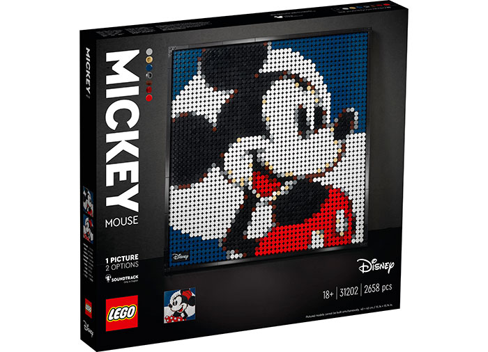 Mickey mouse lego art