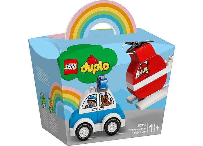 Elicopter de pompieri si masina de politie lego duplo