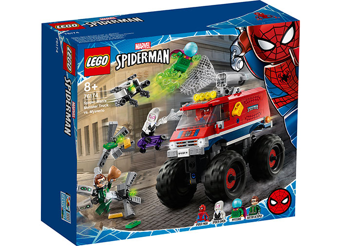 Monster truck spider man si mysterio lego marvel super heroes