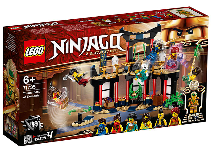 Turneul elementelor lego ninjago