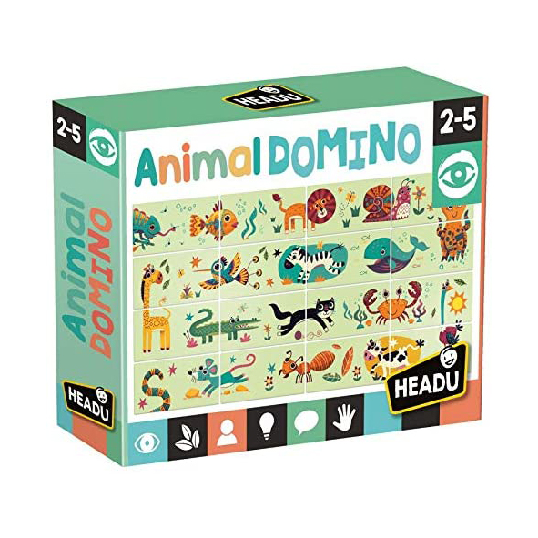 Joc domino puzzle animale headu