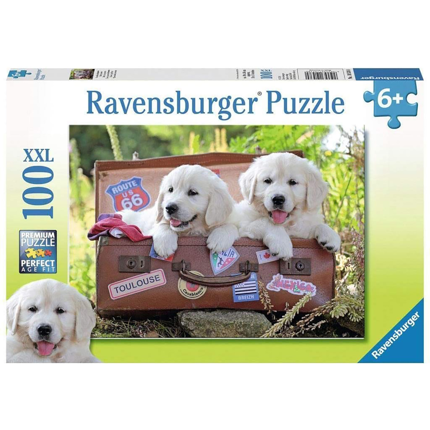 Puzzle catei in valiza 100 piese ravensburger