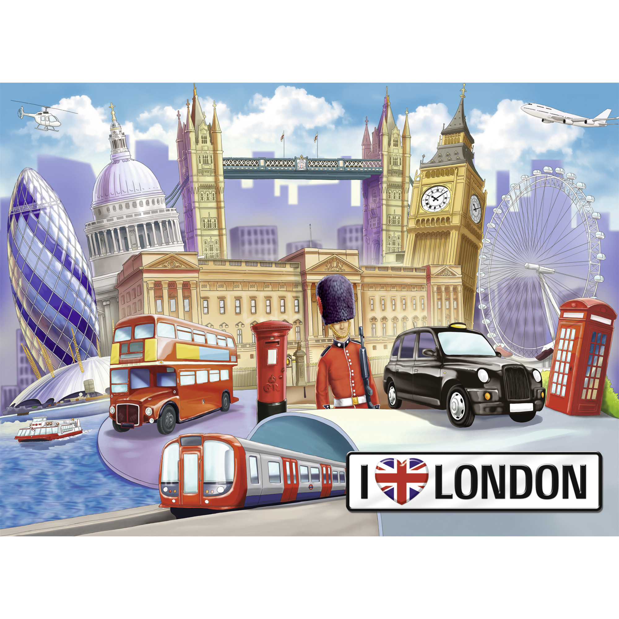 Puzzle londra 100 piese ravensburger - 1