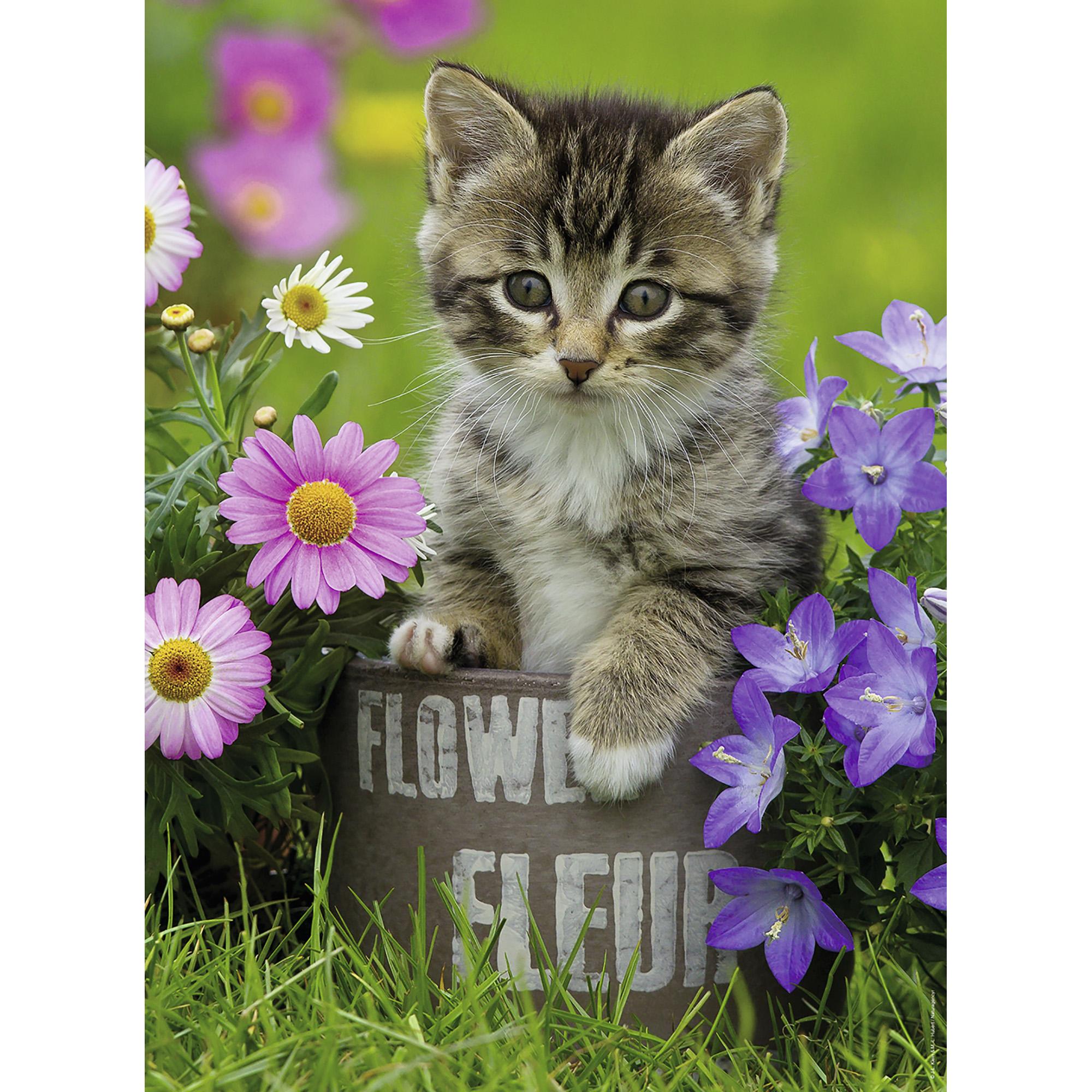 Puzzle pisicuta intre flori 100 piese ravensburger - 2
