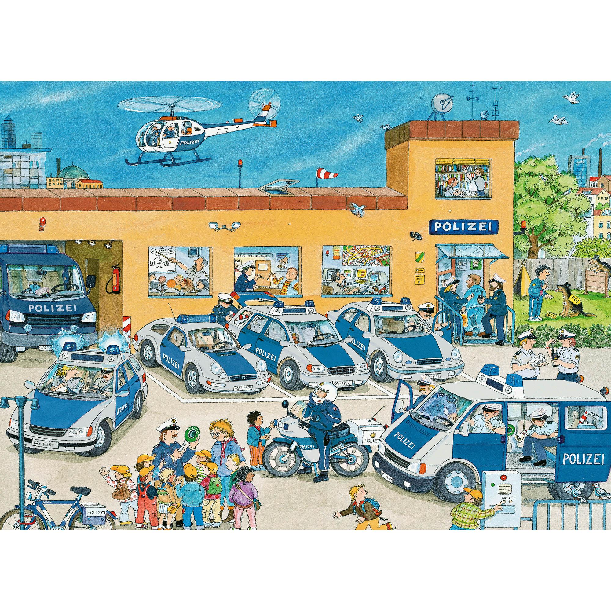 Puzzle politie 100 piese ravensburger - 1