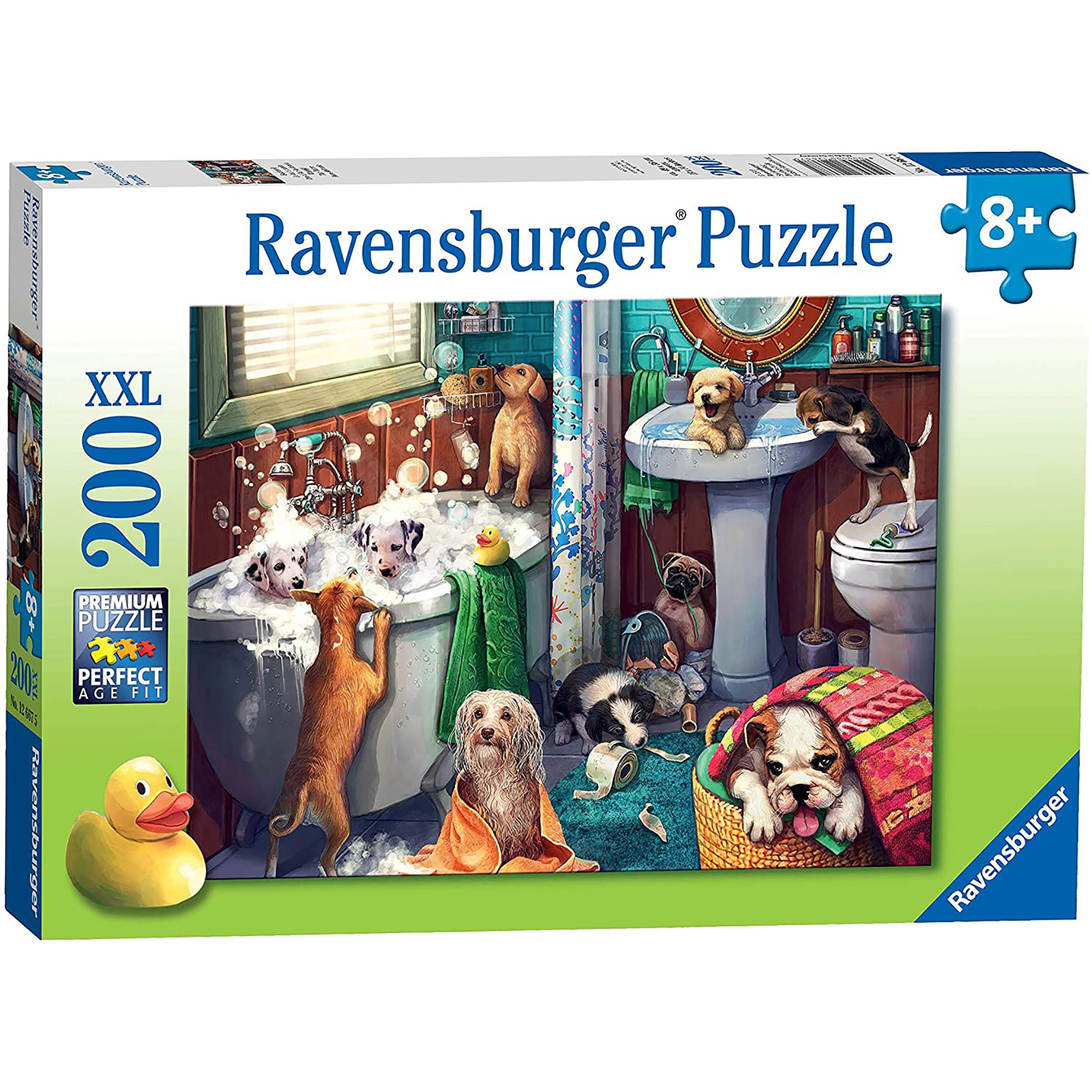 Puzzle catelusi in baie 200 piese ravensburger