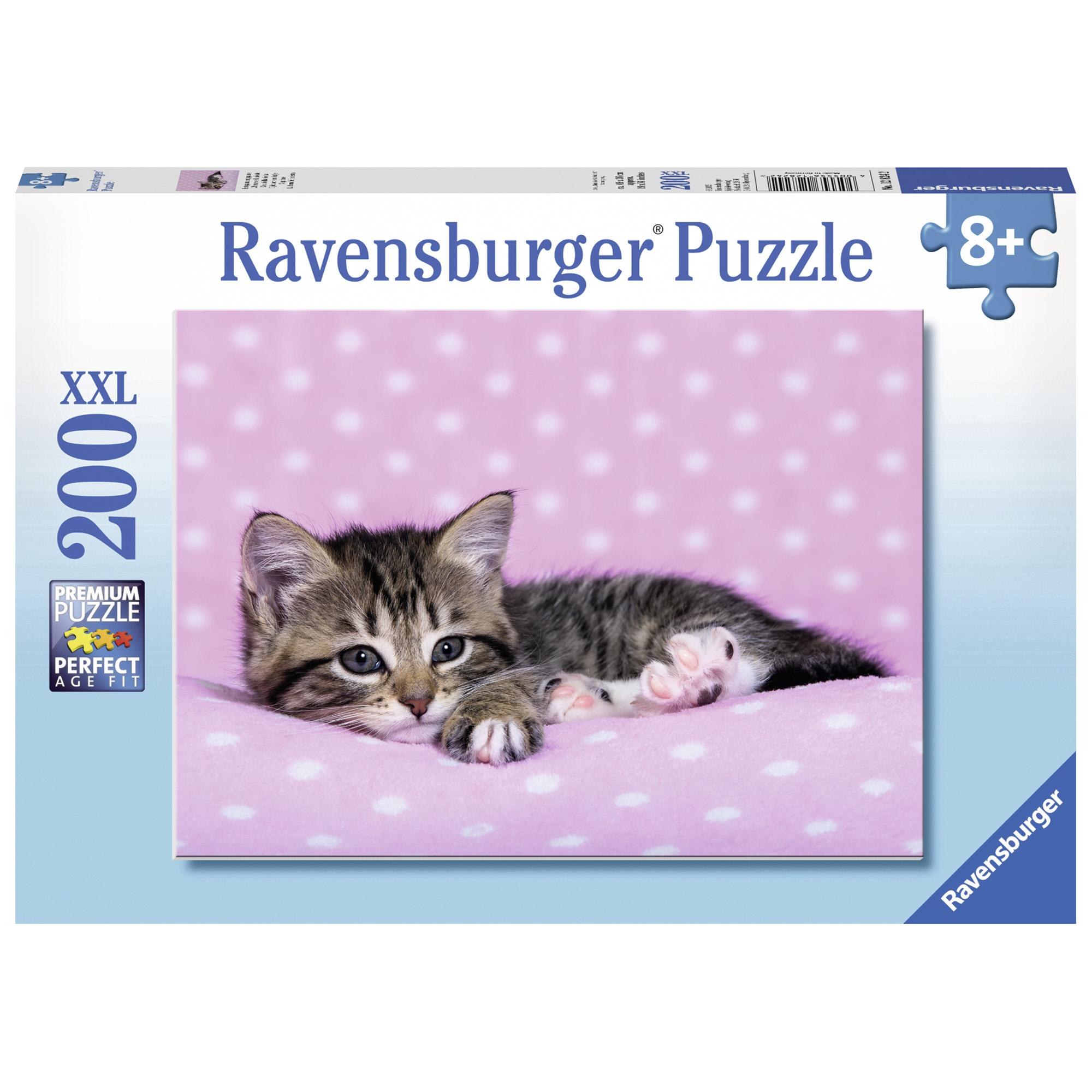 Puzzle pisicuta pe patura 200 piese ravensburger