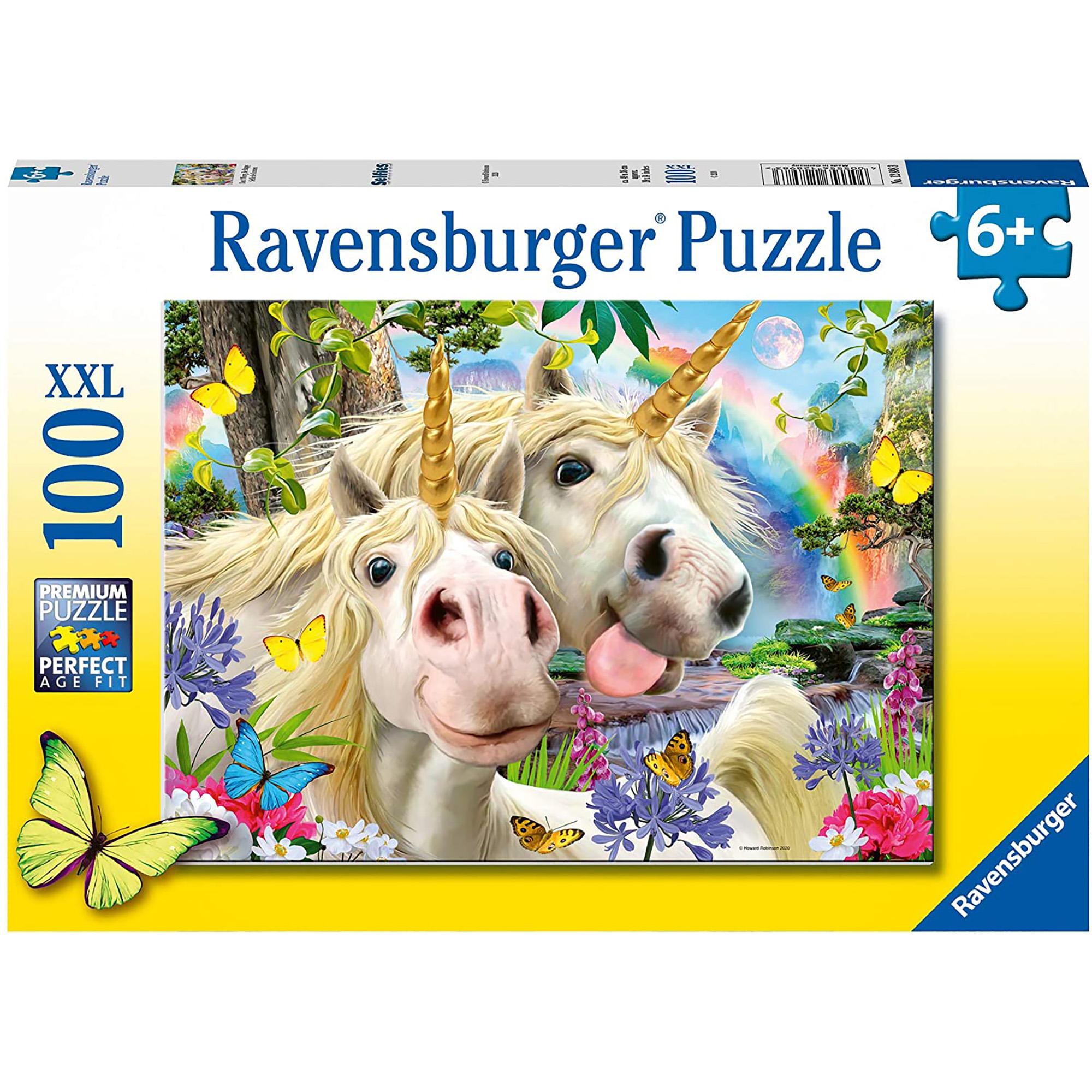 Puzzle selfie cu unicorni 100 piese ravensburger