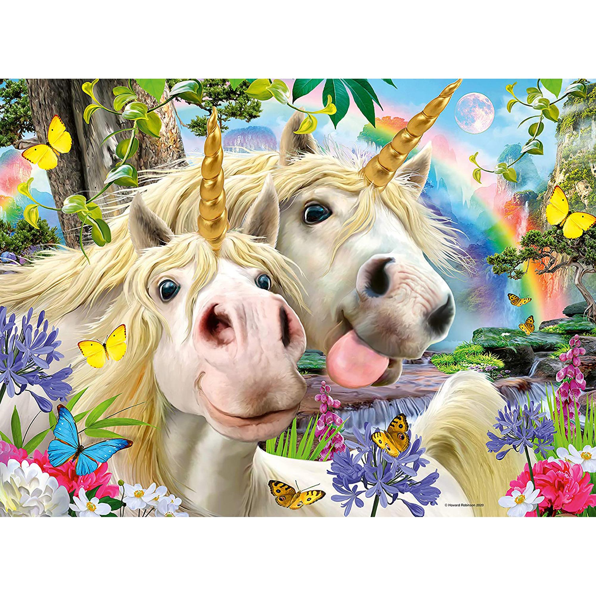 Puzzle selfie cu unicorni 100 piese ravensburger - 1