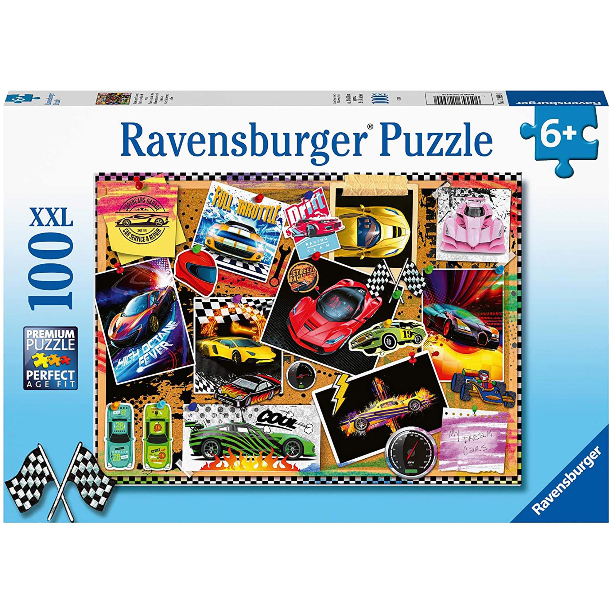 Puzzle masini de curse 100 piese ravensburger