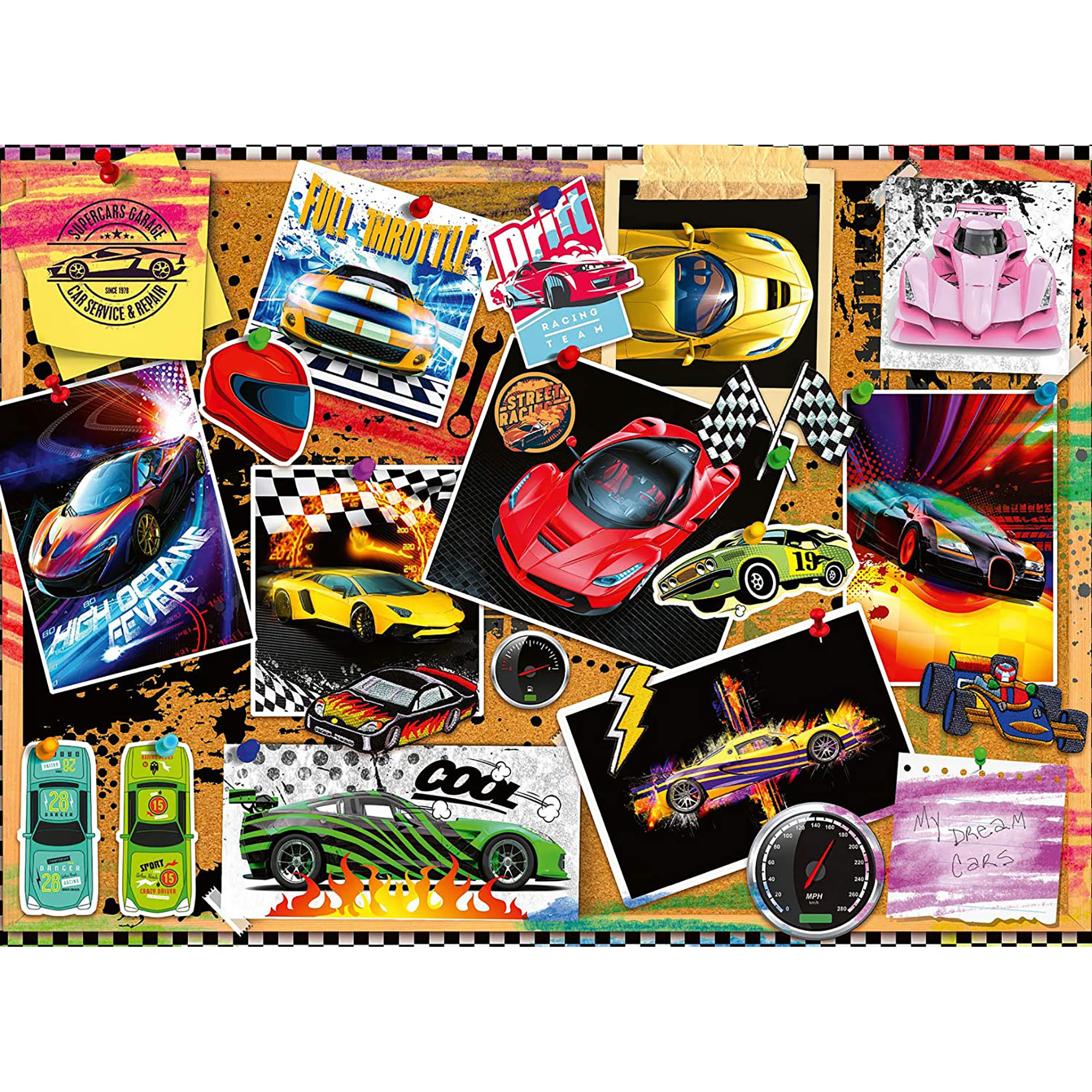 Puzzle masini de curse 100 piese ravensburger - 1