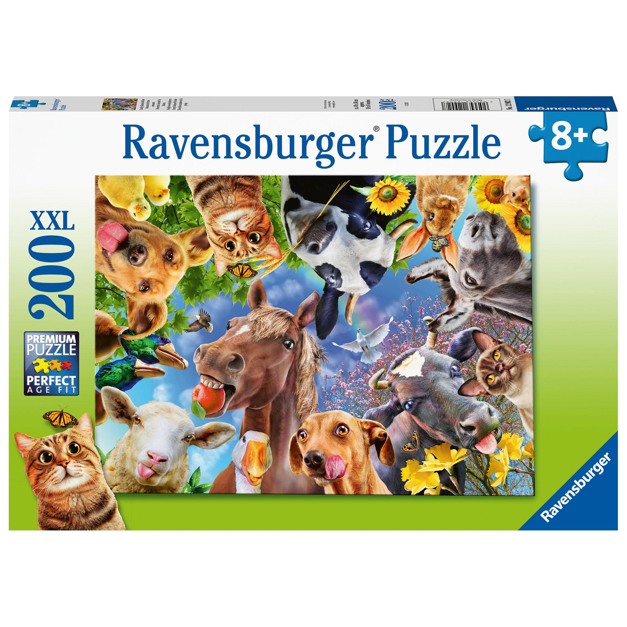 Puzzle portret cu animale 200 piese ravensburger