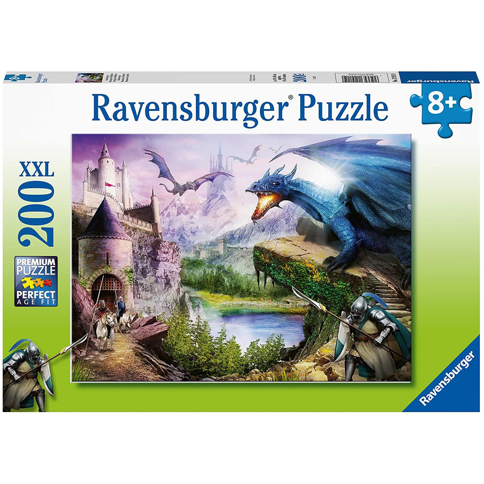 Puzzle castel si dragoni 200 piese ravensburger