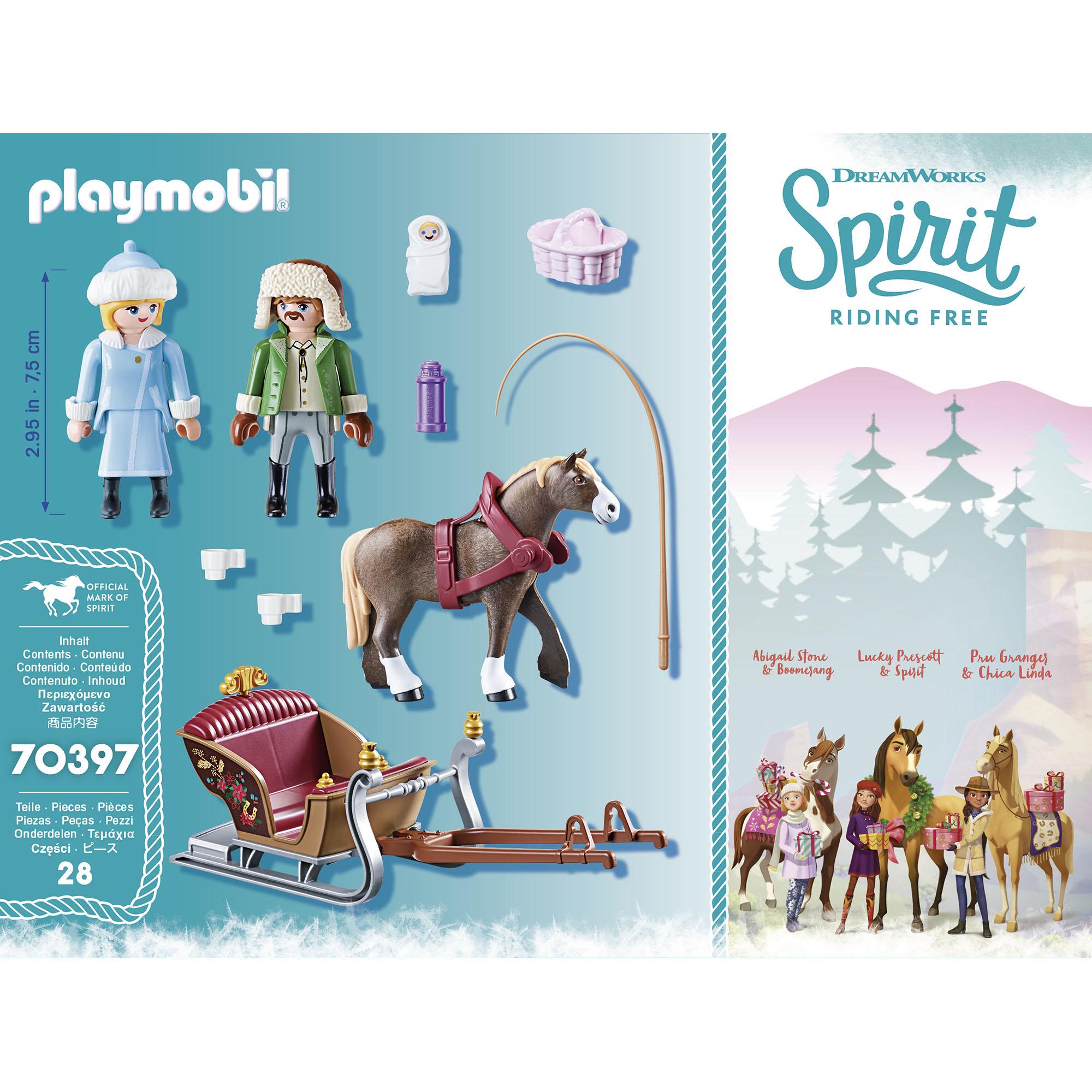 Plimbare cu sania playmobil spirit - 1