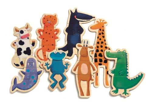 Joc cu magneti animale amuzante djeco - 3