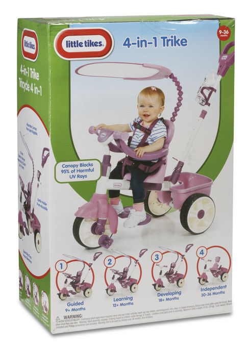 Tricicleta 4 in 1 roz little tikes imagine
