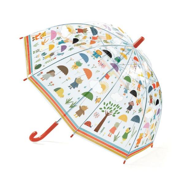 Umbrela copii in ploaie djeco imagine