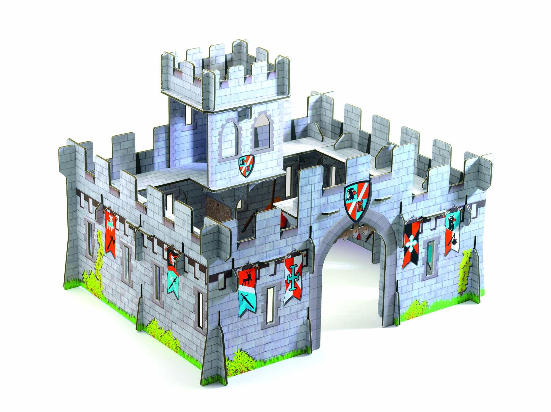 Castel medieval macheta 3d djeco imagine