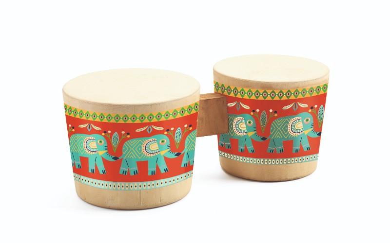 Instrument muzical bongo djeco imagine