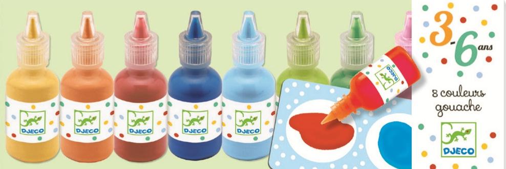 Culori guase set 8 nuante djeco imagine