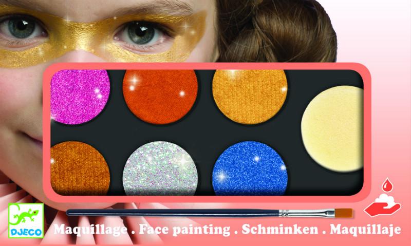 Culori make-up non alergice metalic djeco imagine