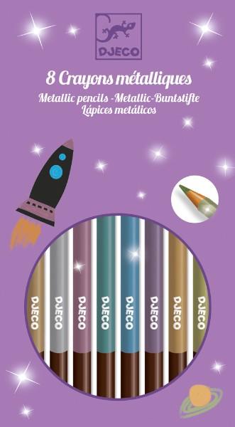 Creioane metalice de colorat djeco imagine
