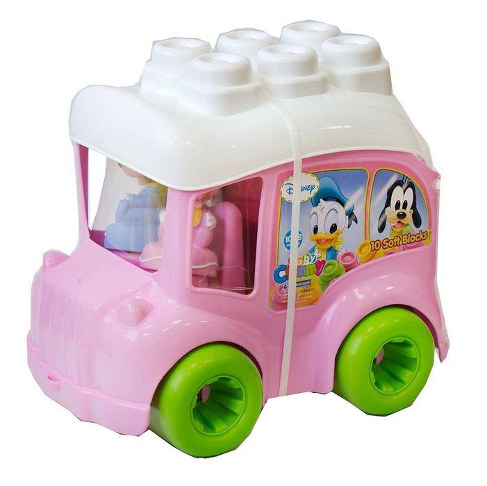 Autobuz minnie mouse cu cuburi clementoni imagine