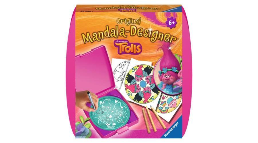 Planse desen mini mandala trolls ravensburger imagine
