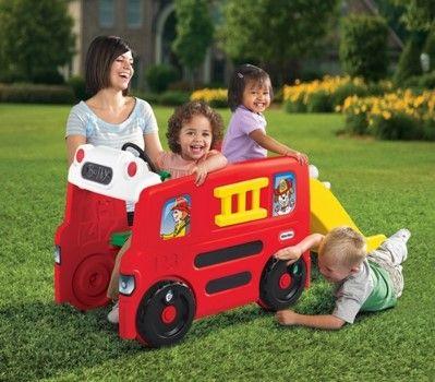 Masinuta pompieri cu activitati little tikes - 2