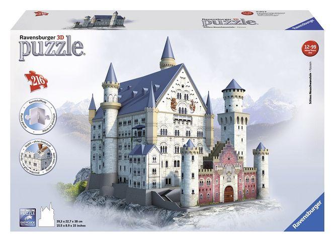 Puzzle 3d castelul neuschwanstein 216 piese ravensburger imagine