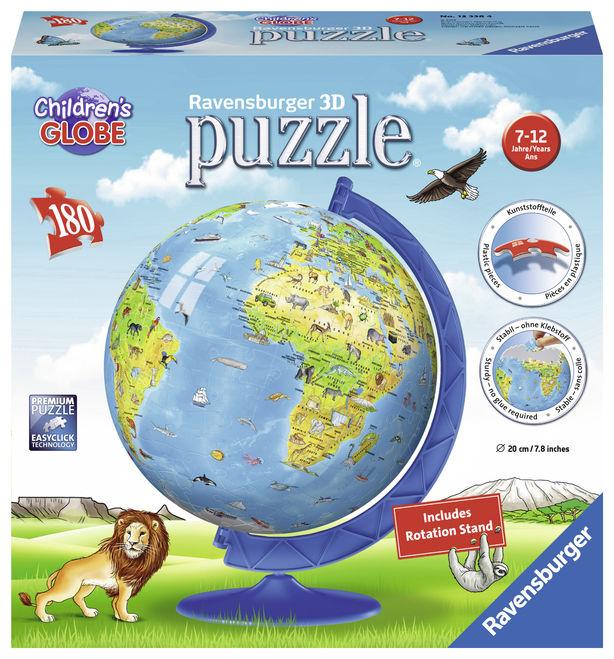 Puzzle 3d globul lumii 180 piese ravensburger imagine